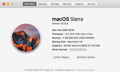 My Hackintosh After Update to 10.12.5 [macOS Sierra]