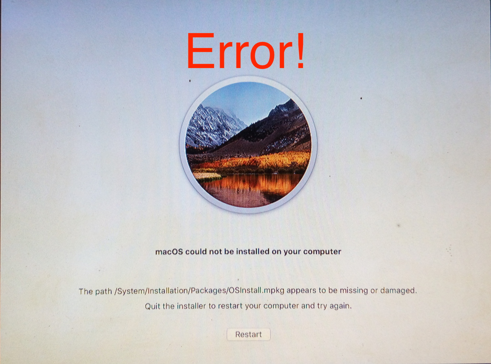 Hackintosh Usb Bootable Made in Windows for macOS High Sierra Error