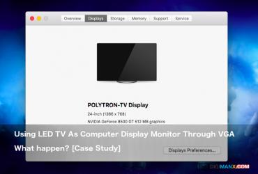 Using LED TV As Computer Display Monitor Through VGA