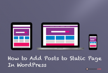 Add posts to static page in wordpress