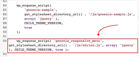 Genesis header shrink code