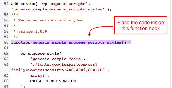 Genesis php code