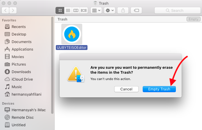 Ununstall UUByte ISO Editor on macOS